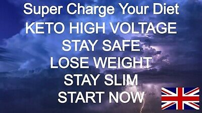 KETO  HIGH VOLTAGE KETO DIET ADVANCED FAT WEIGHT LOSS Ketosis Slimming Diet Caps