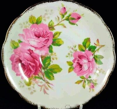 """Royal Albert Bone China , American Beauty""  Saucer Only , Pre-owned Condition !"