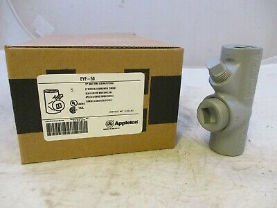 """Appleton Eyf50  1/2"""" Explosion Proof Seal Off Eys Crouse Hinds"""