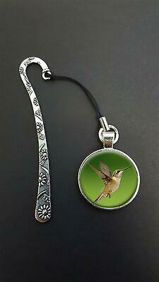 Hummingbird Pendant On a Metal Design Bookmark Ideal Birthday Reading Gift N42