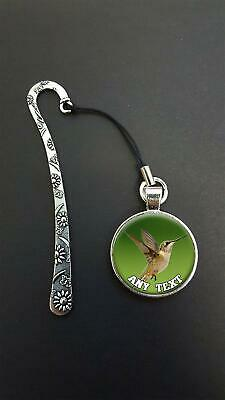 Personalised Hummingbird Pendant On a Metal Bookmark Ideal Birthday Gift N42