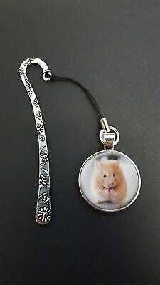 Hamster Pendant On a Metal Design Bookmark Ideal Birthday Reading Gift N50