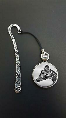 Giraffe Pendant On a Metal Design Bookmark Ideal Birthday Reading Gift N55