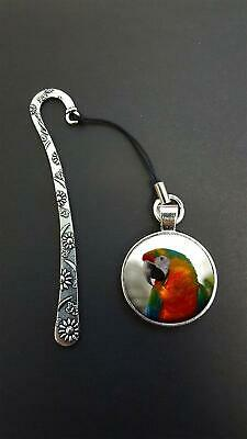 Parrot Bird Pendant On a Metal Design Bookmark Ideal Birthday Gift N59