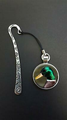 Mallard Duck Pendant On a Metal Design Bookmark Ideal Birthday Reading Gift N66