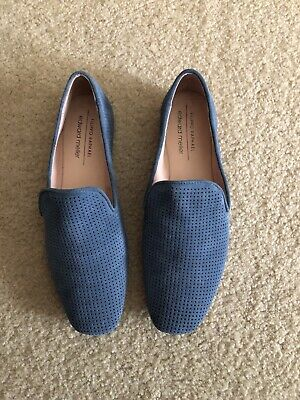 Blue suede (leather) shoes