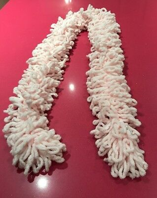 BN Claire's Accessories Baby Pink Sparkle Loop Scarf, Approx 122cm Long