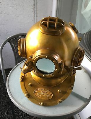 Antique scuba divers diving helmet US navy mark v deep sea marine diver scuba