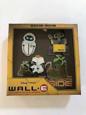 Disney Pixar Wall-E 10th Anniversary Pin Set Eve M-O Hal Boot LE 500 Disney
