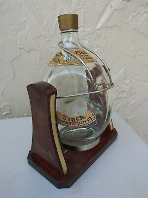 Pinch Haig Swinging Stand 3-Sided Scotch Whisky glass Bottle Product of Scotland