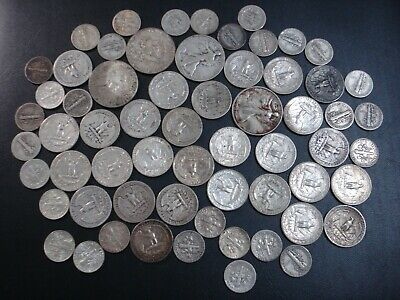 United States of America US 90% Silver Coins Bulk Dollar Half $ Dime Liberty BK1