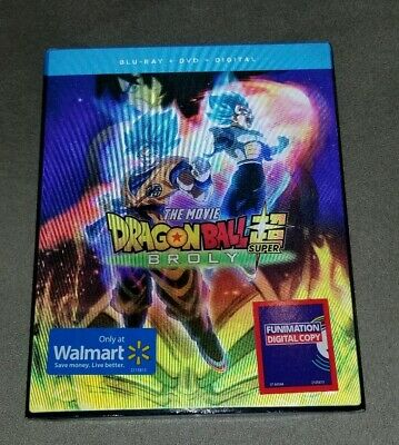 Dragonball Z Super Brolly Bluray Dvd Walmart Exclusive Lenticular Slipcover New