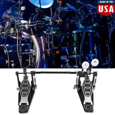Drum Pedal Double Bass Dual Foot Kick Pedal Percussion Double Chain Drive USA