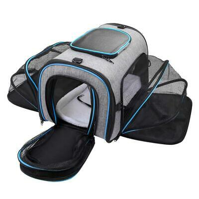 Siivton Pet Carrier for Cat, Puppy, Portable Four-sides Expandable Airline...
