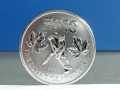 Kanada Canada 5 Dollars Maple Leaf 2010 Vancouver 1 Unze 999 Silber
