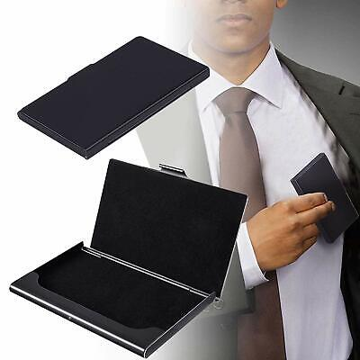 Business Card Holder Professional Stainless Steel Business Name Card Case Black