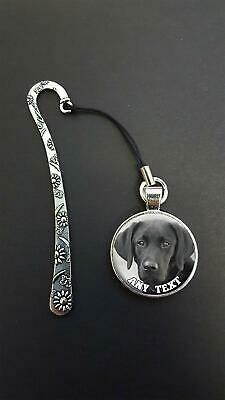 Personalised Black Labrador Pendant On a Metal Bookmark Ideal Birthday Gift N72w