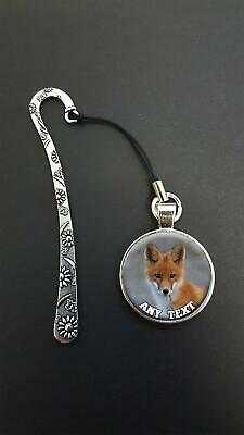 Personalised Fox Pendant On a Metal Bookmark Ideal Birthday Reading Gift N82w