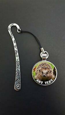 Personalised Hedgehog Pendant On a Metal Bookmark Ideal Birthday Gift N83w