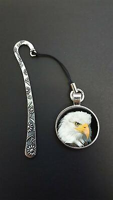 Eagle Bird Pendant On a Metal Design Bookmark Ideal Birthday Reading Gift N87
