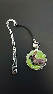 Rabbit Pendant On a Metal Design Bookmark Ideal Birthday Reading Gift N88