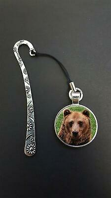 Bear Pendant On a Metal Design Bookmark Ideal Birthday Reading Gift N101