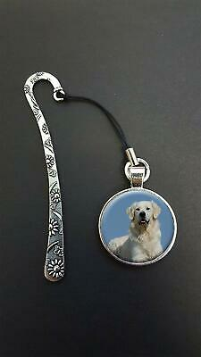 Golden Retriever Pendant On a Metal Design Bookmark Ideal Birthday Gift N106