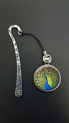 Peacock Bird Pendant On a Metal Design Bookmark Ideal Birthday Gift N111