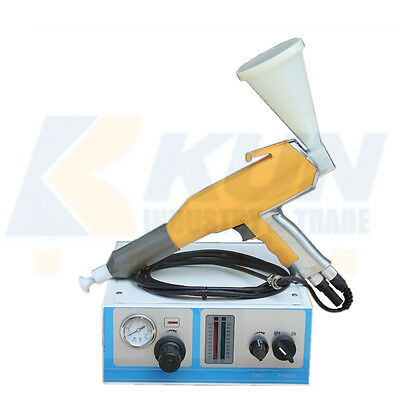 Portable electrostatic powder coating machine spray gun for paint color test