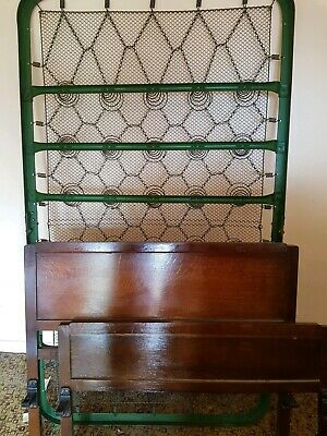 2 x Vono Style Double Bed & 1 SINGLE Solid Wood Metal Frame Antique Vintage
