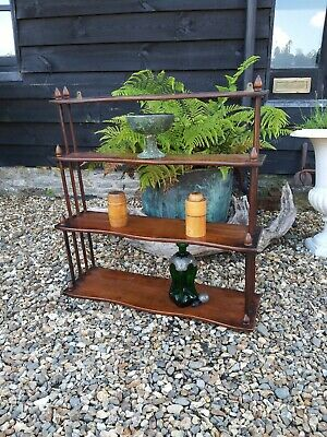 fantastic 19th Century Mahogany Hanging Shelves Serpentine Book Whatnot Shelves