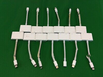 Lot of 13 Genuine OEM APPLE Lightning Digital AV Adapter HDMI MD826AM/A *CHEAP*