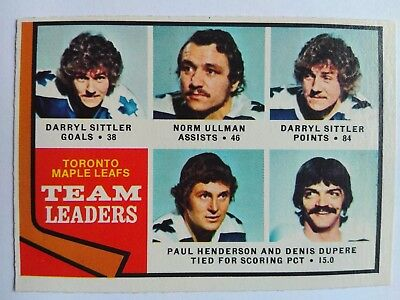 1974-75 OPC O-Pee-Chee #219 Toronto Maple Leafs Team Card - EXMT
