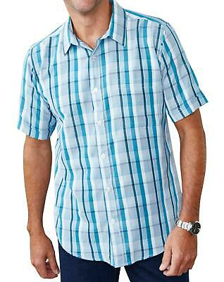 Mens Premier Man Short-Sleeve Soft Touch Check Shirt