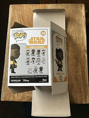 Replacement Box For Funko Pop! Vinyl Lando Caprissian 240. No Figure! Star Wars