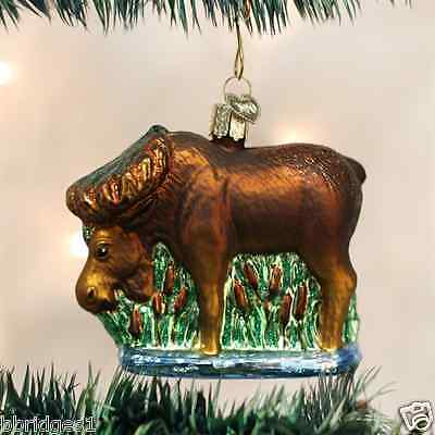 *Munching Moose* [12135] Old World Christmas Glass Ornament - NEW