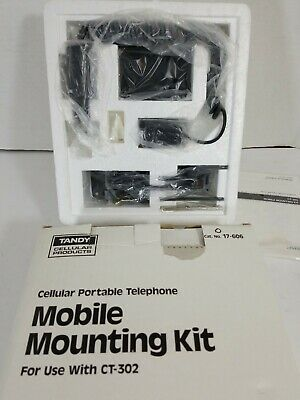 Vintage Cell Phone TANDY Mounting Kit New Old Stock 17-606 for use with CT-302