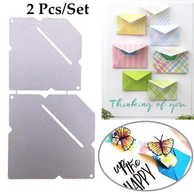 2 Pcs/set Envelope Metal Cutting Dies for DIY Scrapbooking Embossing Paper Cards