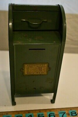 Antique Vintage Pressed Steel United States Post Office Mailbox Mail Box Bank