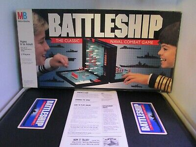 Battleship Board Game 1990 Edition Classic Navel Combat Game with Instructions