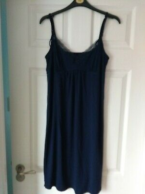Navy Maternity Nursing Nightie Nightdress Size 8-10