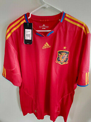 7e64f59ee Adidas Climacool 2010 SPAIN RFCF National Soccer Team Jersey Red mens sz 2X