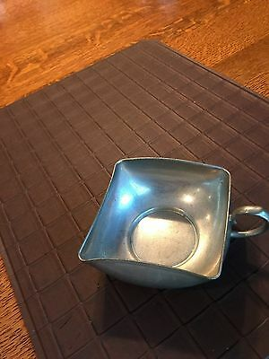 Vintage Daalderop Royal Holland Pewter Square Bowl