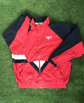 Reebok Vintage Retro 90's Tracksuit Trackie Zip Top Size XL Extra Large RARE