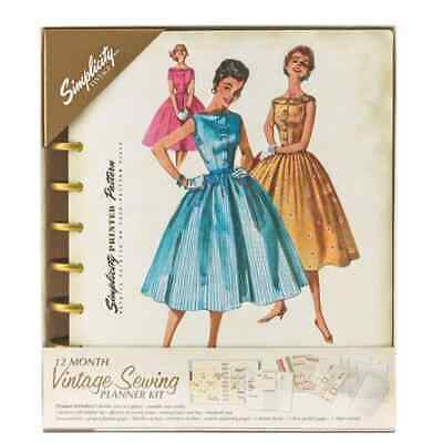 Let's Get Sewing Simplicity Vintage Retro Fashion Sew Planner Crafting