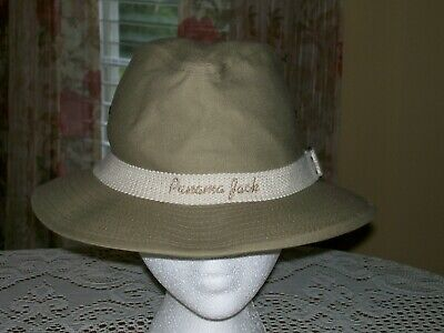 07ad7ef09dbbb1 Panama Jack Original Fedora Casual Hat Khaki Canvas Made USA Men's size  Medium