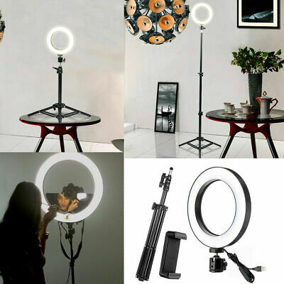 "10"" Selfie Ring Led 3 Lights Photography with Adjustable Stand & Mobile Holder"