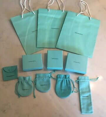 8732913b80 LOT OF 14 Tiffany & Co Gift Boxes Bags Ribbon Jewelry Box Necklace ...