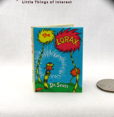 THE LORAX 1:6 Scale Book Readable Illustrated Miniature book Dr. Seuss