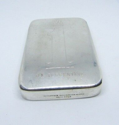 Tiffany & Co. Paperweight Vintage Silver Plated Weighted Antique Old Estate